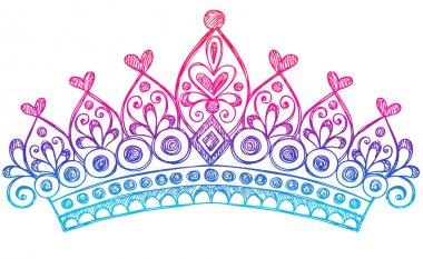 Hand-Drawn Sketchy Royalty Princess Tiara Crown