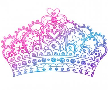 Hand-Drawn Sketchy Royalty Princess Crown