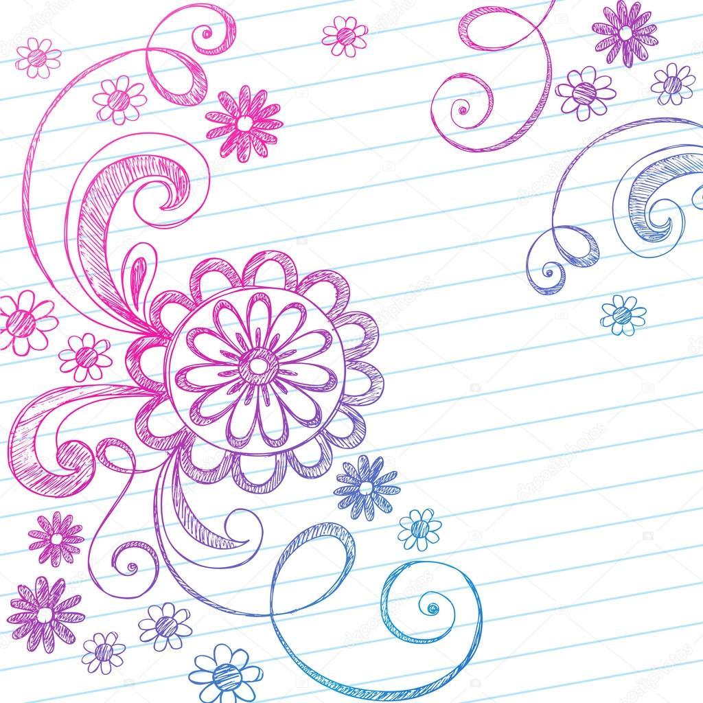 Vector Flores Garabatos Flores Y Enredaderas Incompletos A