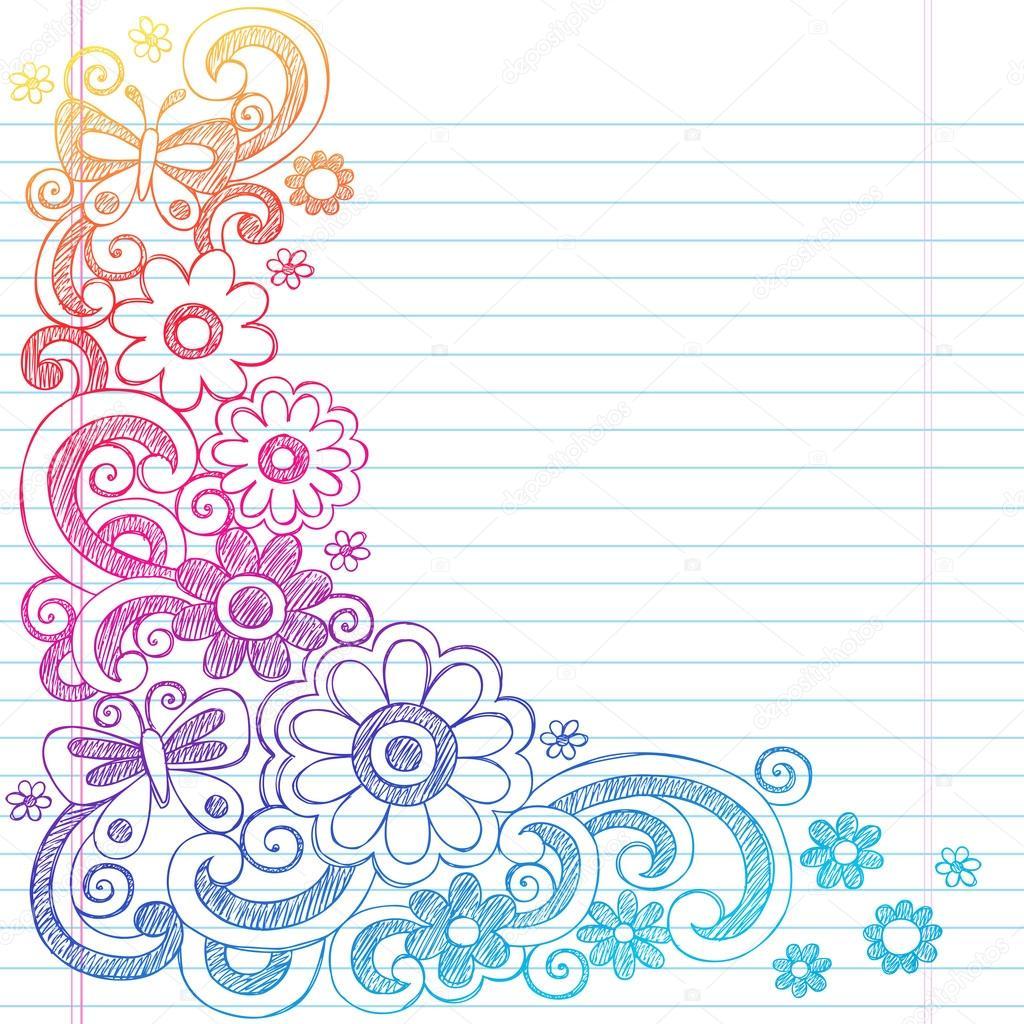 Cool Book Cover Backgrounds : Cuaderno incompleto flores y mariposas de primavera