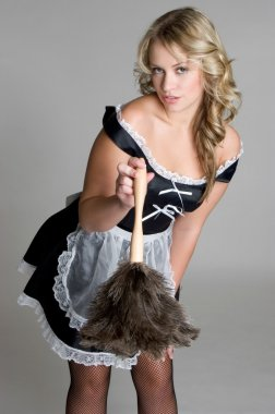 Blond French Maid
