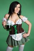 Fotografie sexy Frau Holdig Krug Bier
