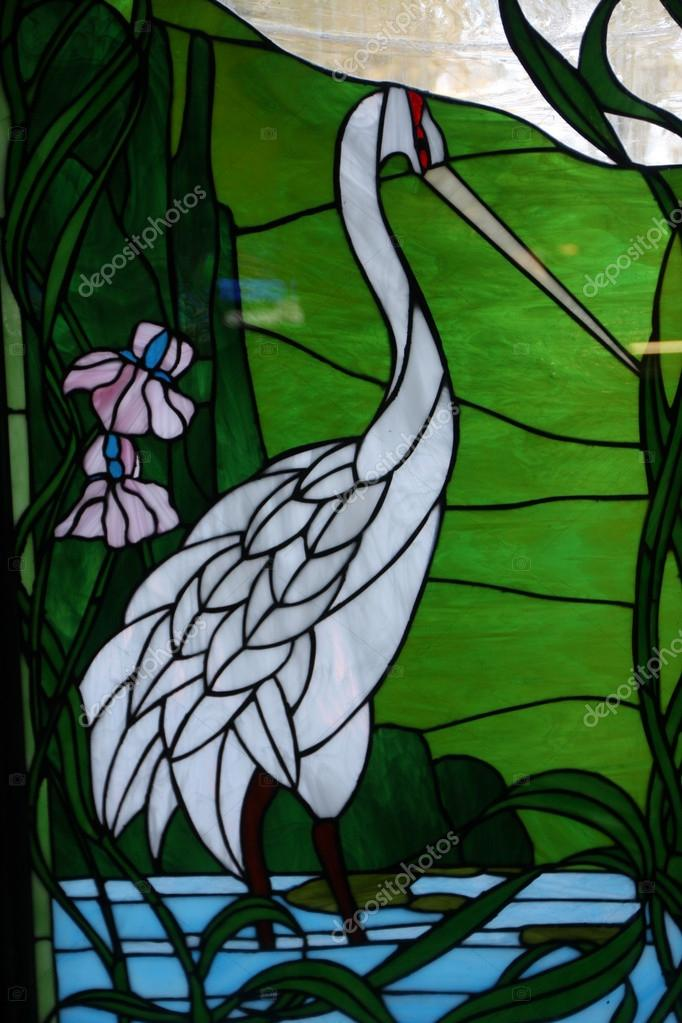 Sandhill Crane Stained Glass