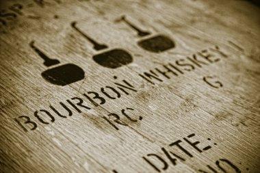 Closeup image of a lid of a Bourbon barrel stock vector