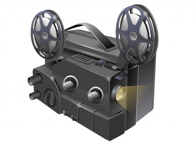 Vector illustration of video projector