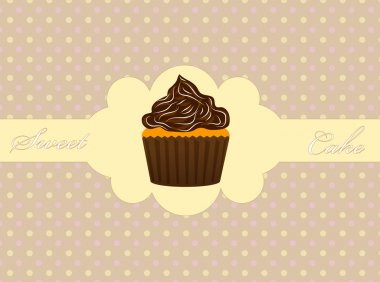 Vector illustration of muffins