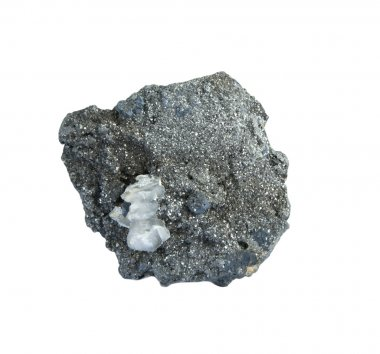 close-up of arsenopyrite in the rough
