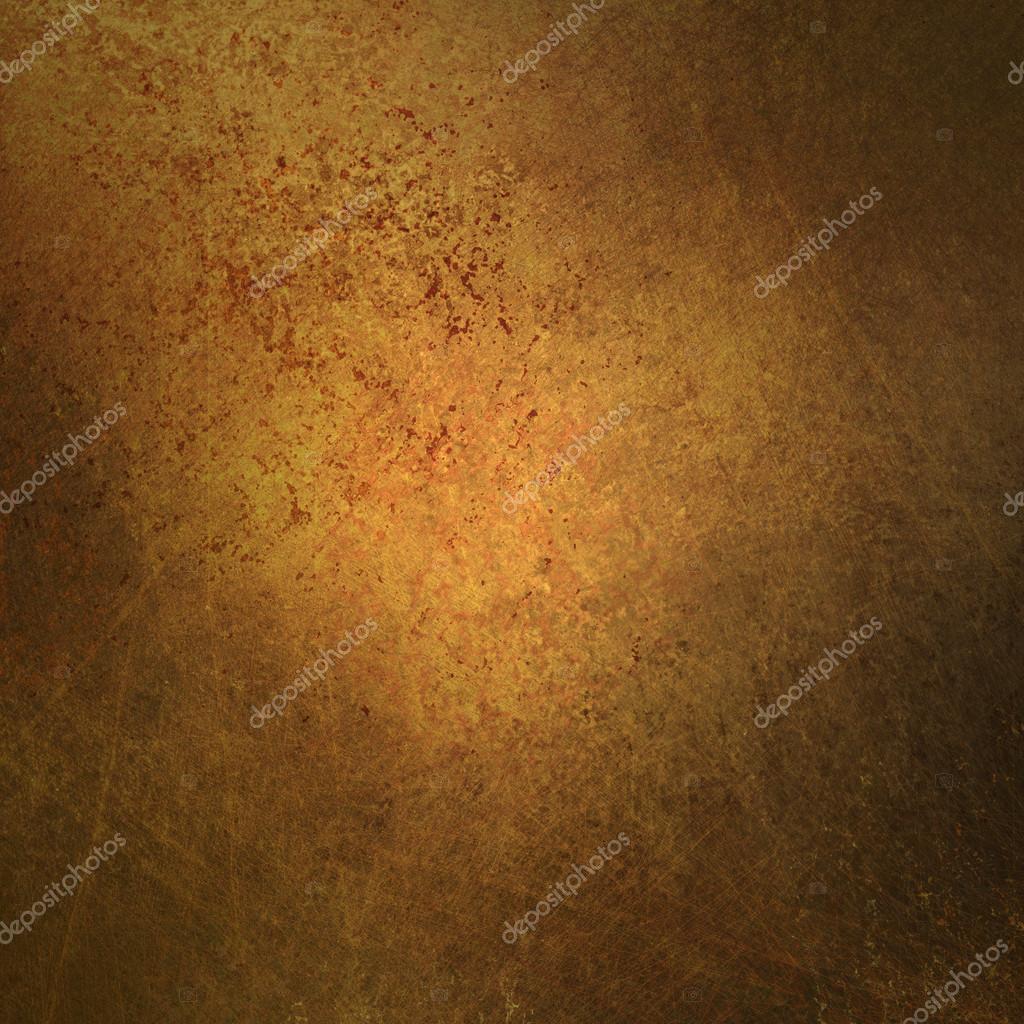Gold brown background texture with black vignette frame warm