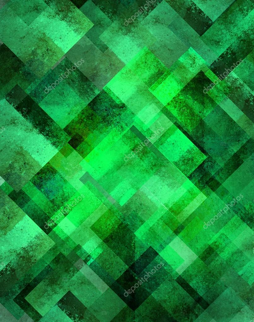 abstract green background geometric diamond shape pattern ...