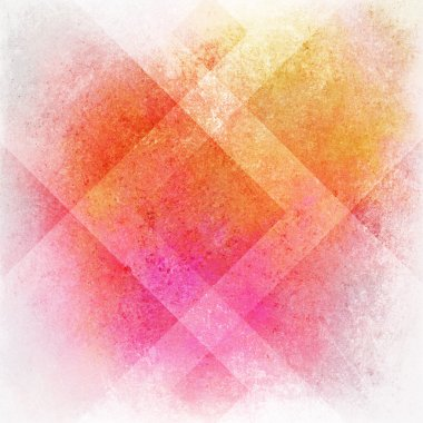 Abstract pink background or orange yellow background on white, old warm stain spot vintage grunge background texture on colorful plaid art background block layout design, multicolor background paper