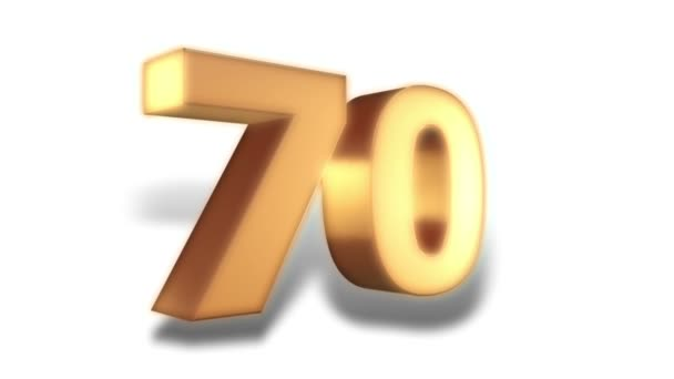 Discounts action - 70 percent - gold