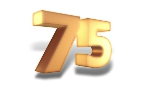 Discounts action - 75 percent - gold