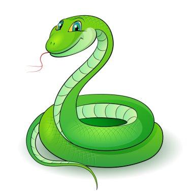 Illustration of a nice green snake