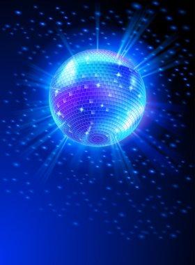 Mirror disco ball vector