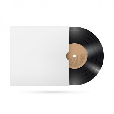 Vinyl records Illustration on white background for creative design