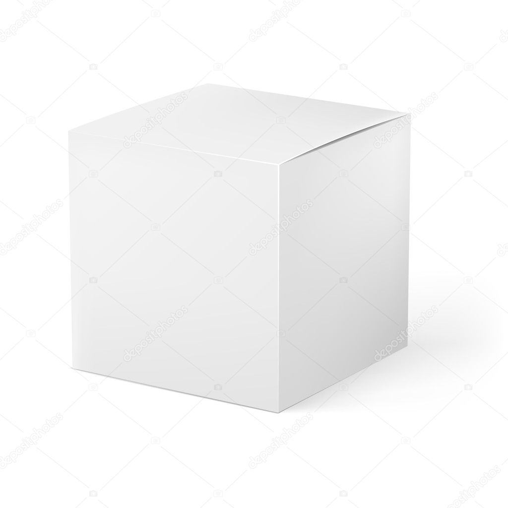 White box. Illustration on white background for creative design