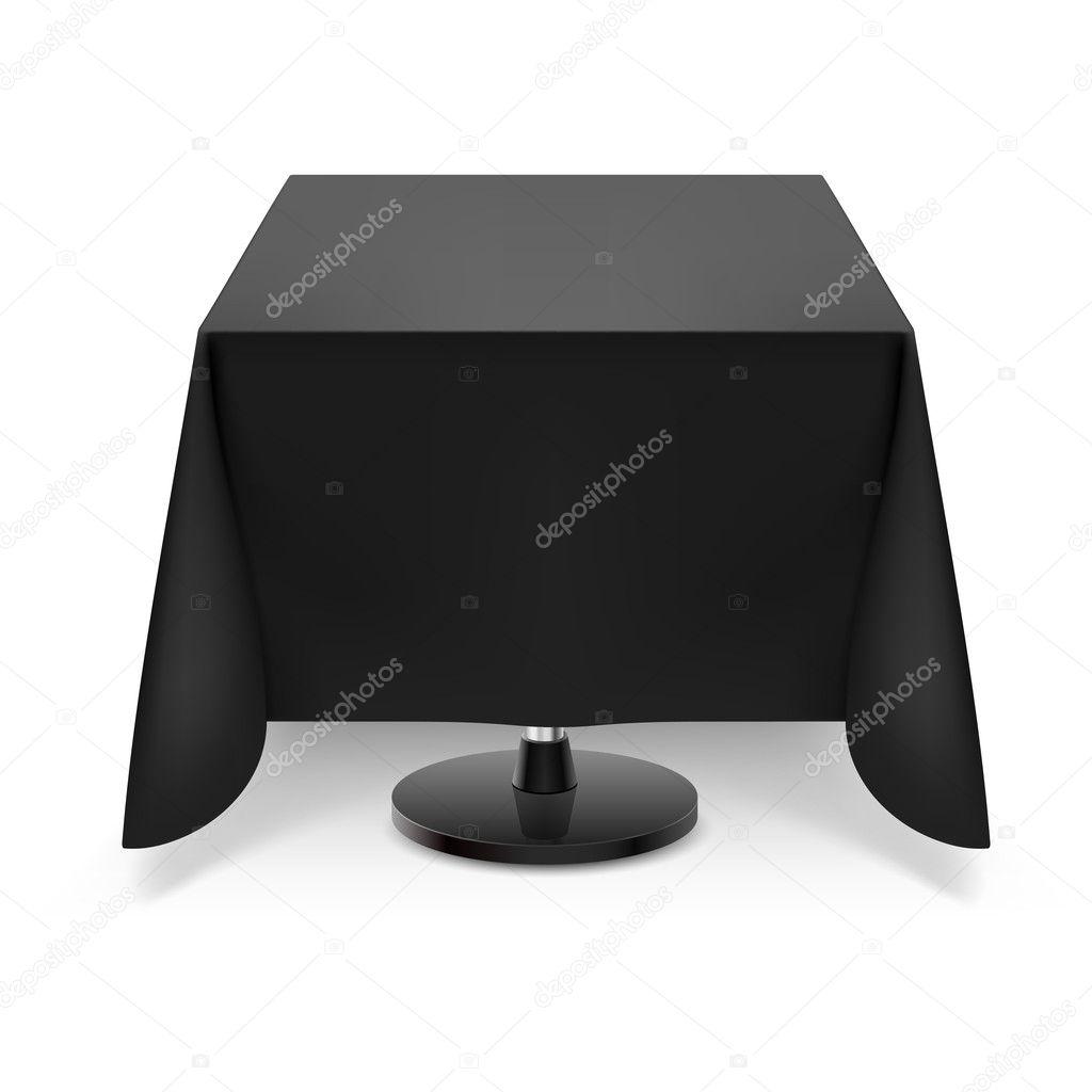 tisch mit schwarzen tischdecke — stockvektor #30395933, Esszimmer dekoo