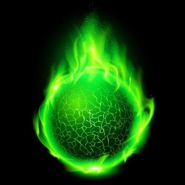 Fiery lava ball.