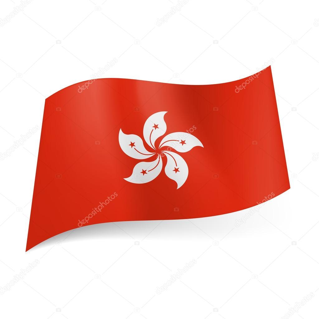 State Flag Of Hong Kong Stock Vector Dvargg 39272849