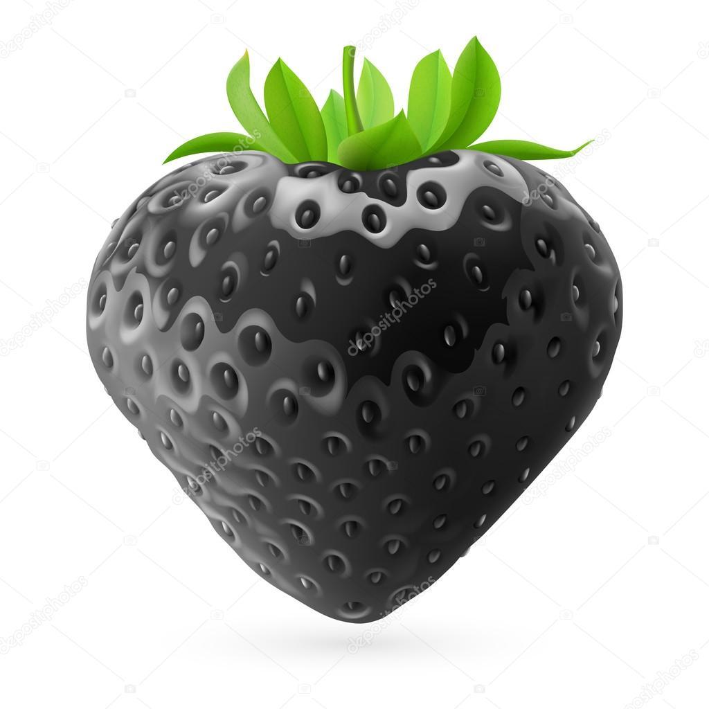 Черная клубника фото
