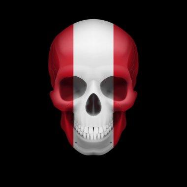 Peruvian flag skull