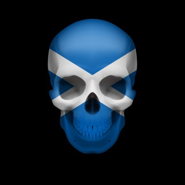 Scottish flag skull