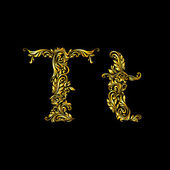 Decorated letter t