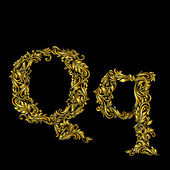 Decorated letter q