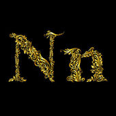 Fotografie Decorated letter n