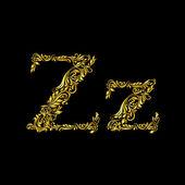 Fotografie Decorated letter z