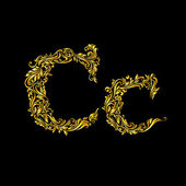Decorated letter c in upper and lower case