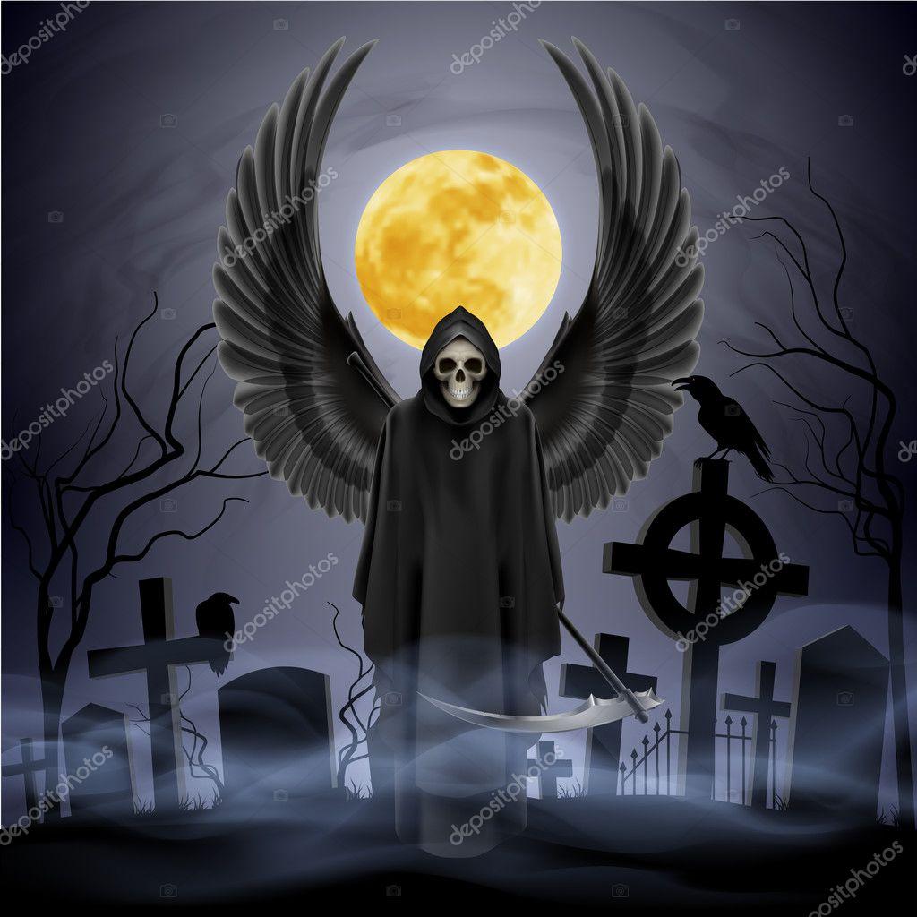 Anioł śmierci Grafika Wektorowa Dvargg 47671745