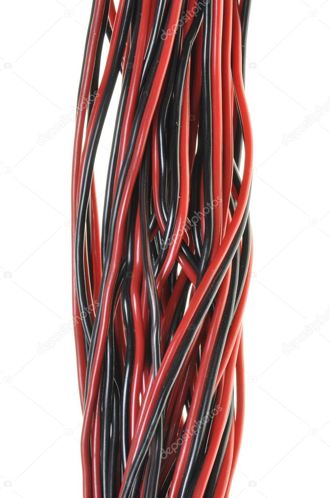 elektrische Leitungen verdreht Signalfluss — Stockfoto © Zetor2010 ...