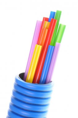 Heat shrink tubing in corrugated pipe electrical installations