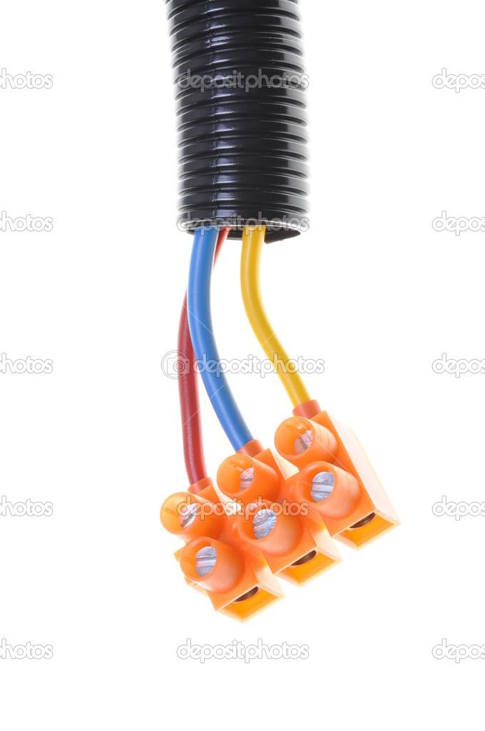 elektrischen Installationsleitungen — Stockfoto © Zetor2010 #35210325