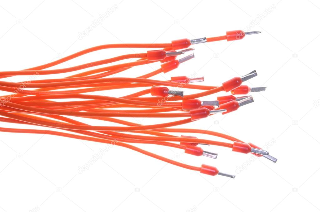 elektrische Kabel-Installation mit Klemmen — Stockfoto © Zetor2010 ...