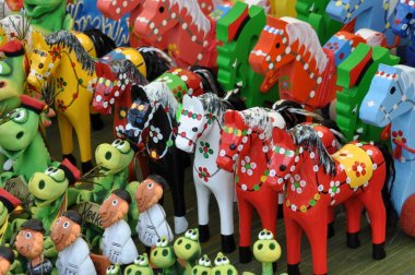 Handmade wooden toys horses