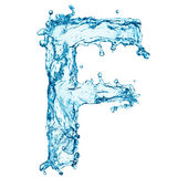 Fotografie Water splashes letter F