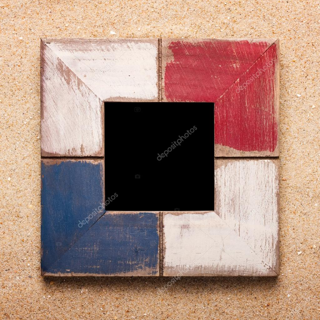 marco de fotos en la arena — Fotos de Stock © korovin #47996707
