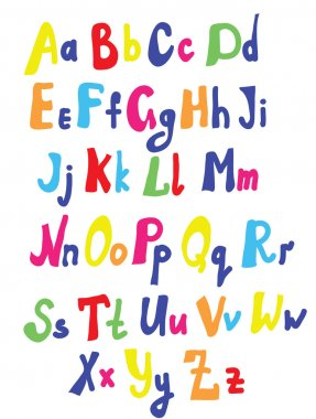 Funny font for kids cute