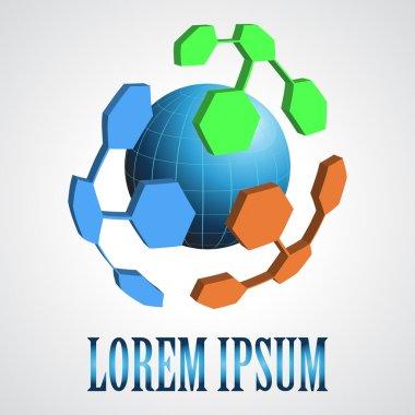 Abstract modern globe logo design template. Creative design ico