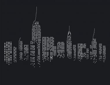 New York at Night stock vector
