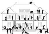 stavební dělníci při práci
