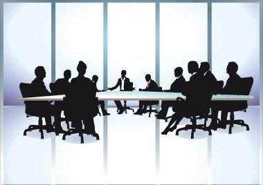 Group of business people in a meeting at office