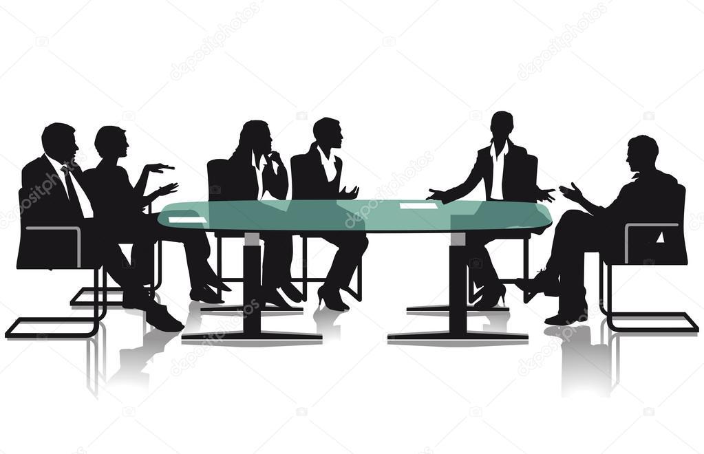会議や討論 — ストックベクター ...