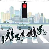 gyalogosok a crosswalks