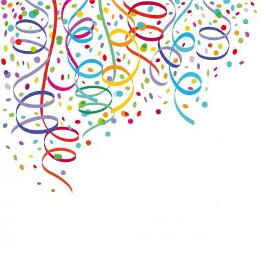 Confetti and streamers clip art vector