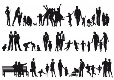 Families and parents stock vector