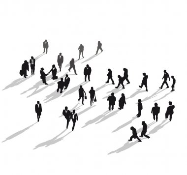 Human group from above clip art vector