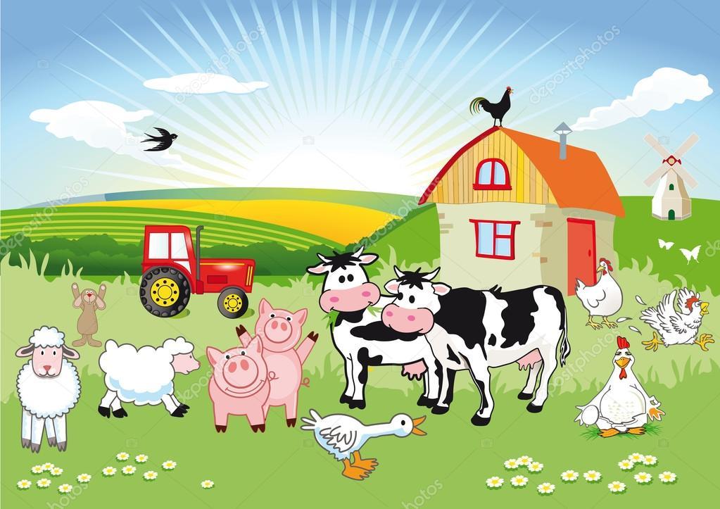 Animali di fattoria di cartone vettoriali stock scusi0 for Piani di fattoria di 2000 piedi quadrati